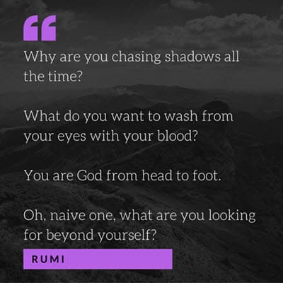 Chasing Shadows Rumi
