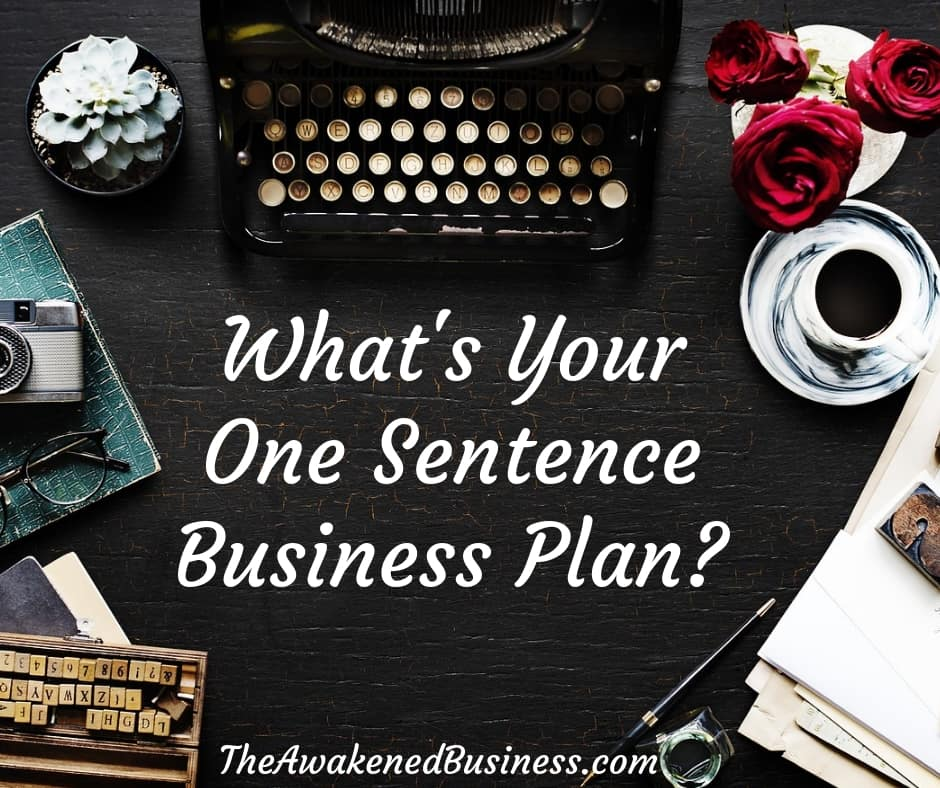 One sentence business plan for coaches