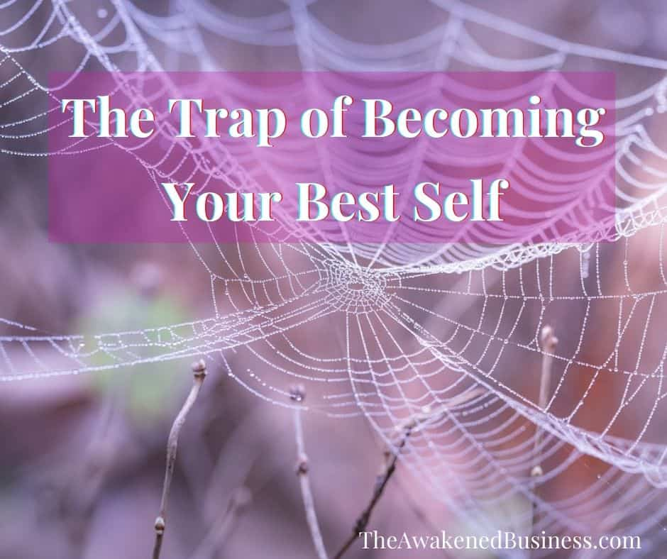 A spiderweb illustrates the trap of transformation workers