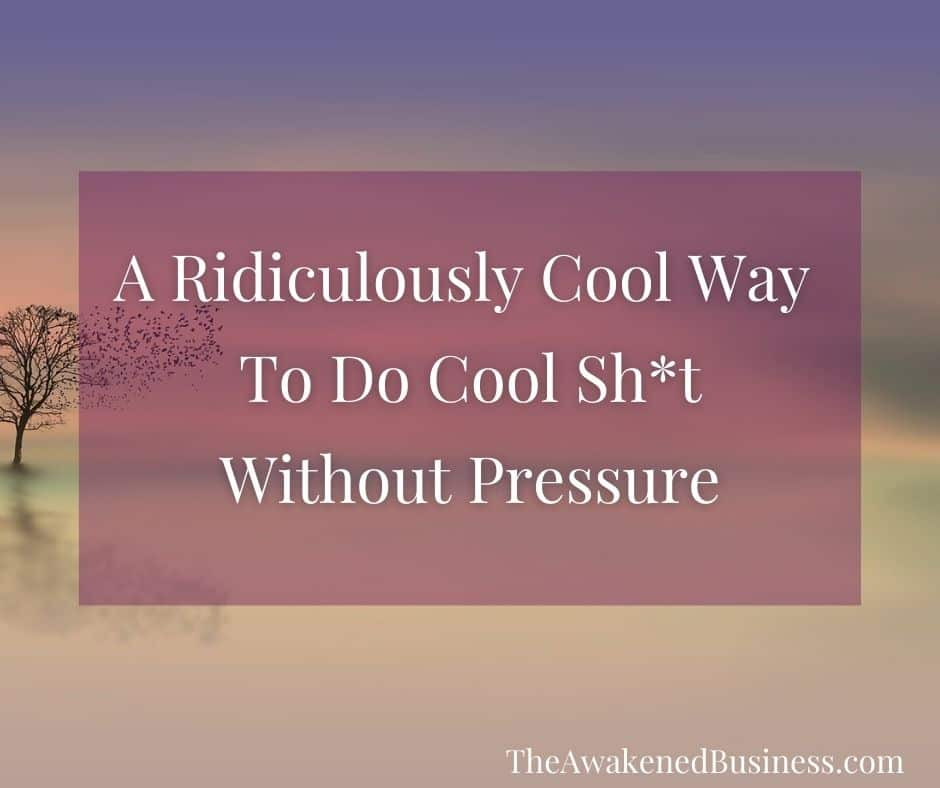 Do Cool Shit Without the Pressure - The Awakened Business