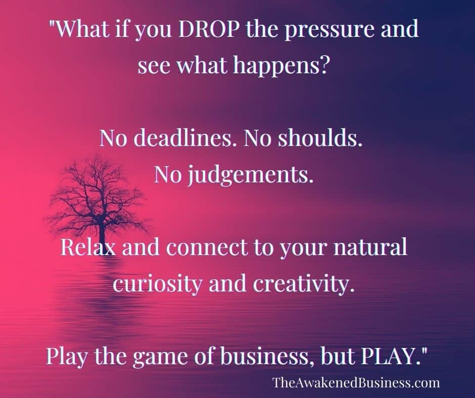 Drop the pressure in your coaching business
