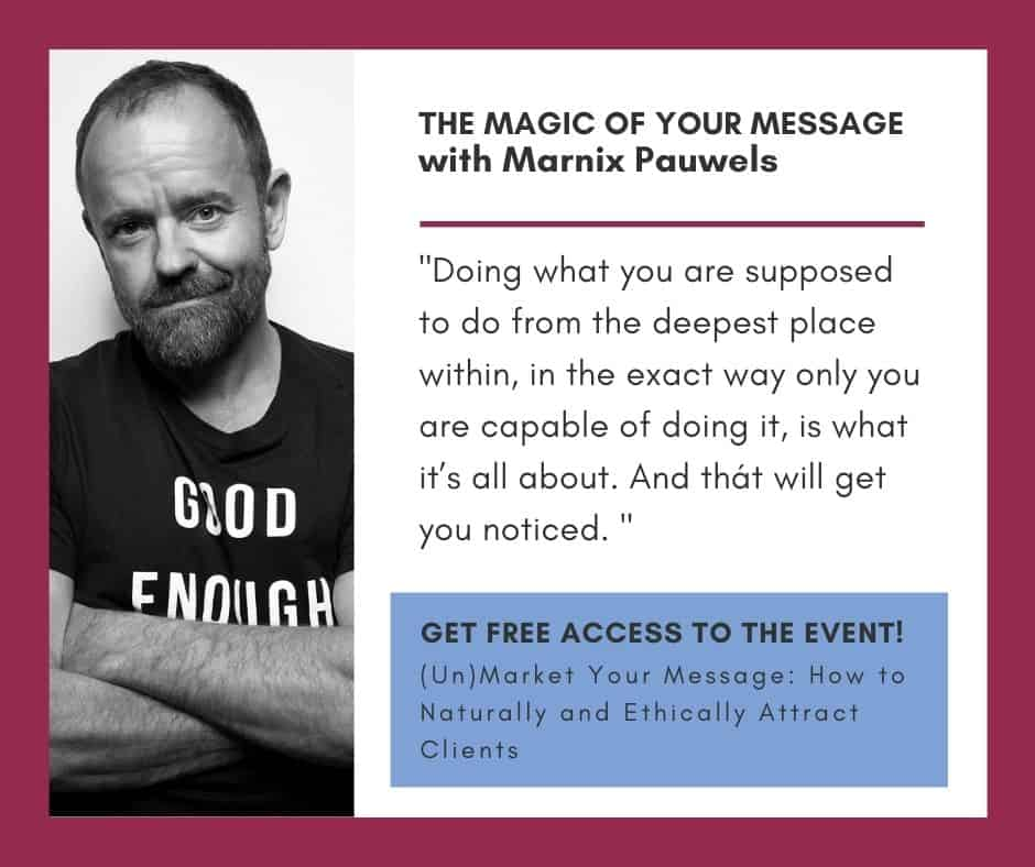 The Magic of Your Message with Marnix Pauwels